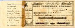 Hawaiian Bell Telephone Company -  Territory of Hawaii 1888