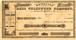Hawaiian Bell Telephone Company - Hawaii 1880