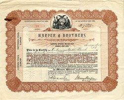 Harper & Brothers (Harper's Magazine) signed by  J. Henry Harper - New York 1906