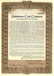 Hawthorne Coal Company $500 Gold Bond - Pennsylvania 1913