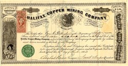 Halifax Copper Mining Company - Canada, Incorporated in Massachusetts 1863