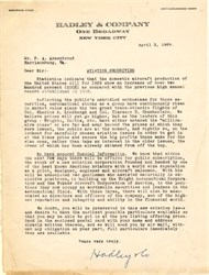 Hadley & Company ( Aviation Investment Letter) - New York 1929