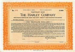 Harley Company - Massachusetts 1922