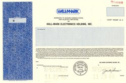 Hall-Mark Electronics Holding, Inc. - Delaware 1988