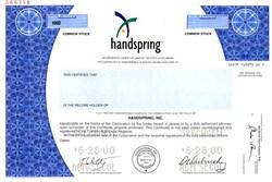 Handspring, Inc. - Delaware 2000