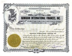 Hawaiian International Finances, Inc. - Hawaii 1965