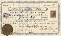Hasbrouck Institute - Jersey City Heights, New Jersey 1899