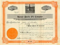 Haiwee Pacific Oil Company Stock 1911