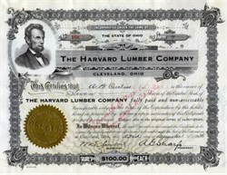 Harvard Lumber Company 1936 - Cleveland, Ohio signed by A. G. Sharp