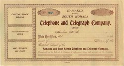 Hamakua and South Kohala Telephone and Telegraph Company - Hawaii
