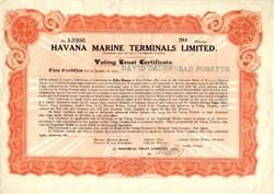 Havana Marine Terminals Limited - 1945