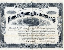 Hampden Mining and Development Company - Carbon County, Wyoming 1895
