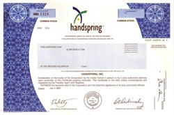 Handspring, Inc - Acquired by Palm
