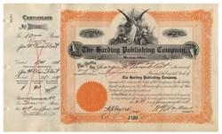 Harding Publishing Company (Signed by Future President,  Warren G. Harding)  - Marion, Ohio 1907