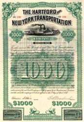 Hartford and New York Transportation Company 1887 - Steamship Company - Great Steamship Image