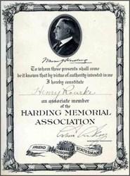 Harding Memorial Association