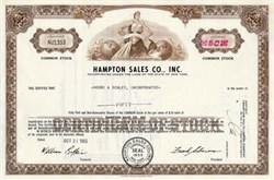 Hampton Sales Company, Inc. - New York 1965