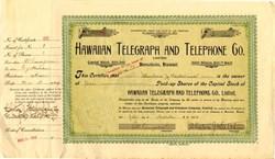 Hawaiian Telegraph and Telephone Co. - Honolulu, Territory of Hawaii 1909
