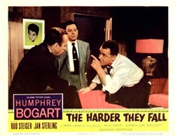 The Harder They Fall Lobby Card Starring Humphrey Bogart - 1956