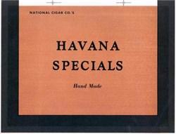 Havana Specials Cigar Label