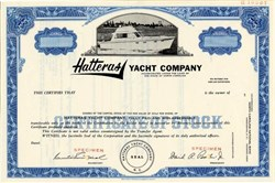 Hatteras Yacht Company (David Parker as president)  - North Carolina 1965