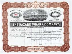 Hazard Wharf Company of Baltimore City 1901
