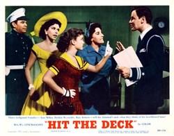 Hit the Deck Lobby Card Starring Jane Powell, Tony Martin, and Debbie Reynolds - 1955