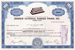Hebrew National Kosher Foods, Inc