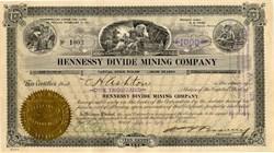 Hennessy Divide Mining Company - Tonopah, Nevada 1920