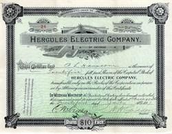 Hercules Electric Company -  Chicago,  Illinois 1891