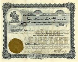 Helena Gold Mines Company - Pima. Vail. Colorado - Incorporated in Arizona 1904