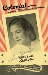 Helen Hayes and cast signed playbill in the Wister Trees at Colonial Theater - Boston 1950