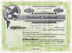 Hebard Lateral - North Yakima, Washington 1924
