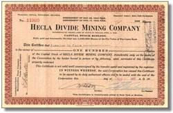 Hecla Divide Mining Company - Tonopah, Nevada 1921