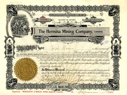 Hermina Mining Company, Limited - Offices in Calumet, Michigan 1908