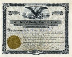 Herald Realty Company - San Francisco, California 1916