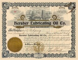 Hersher Lubricating Oil Company 1902