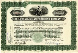 H.H. Franklin Manufacturing Company - 1930