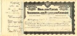 Hilo and Hawaii Telephone and Telegraph Company - Hilo, Territory of Hawaii 1912