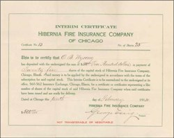 Hibernia Fire Insurance Company 1914