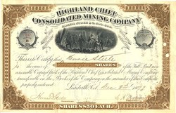 Highland Chief Consolidated Mining Company - Leadville, Colorado - 1879