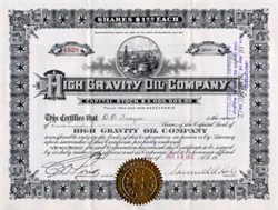 High Gravity Oil Company - 1917