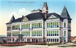 High School, Eureka, California Postcard