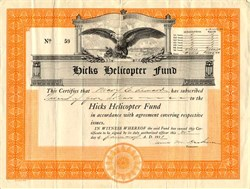 Hicks Helicopter Fund - 1931