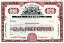 Hilton Hotels Corporation with Conrad Hilton a President (Paris Hilton Family) - Delaware