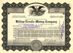 Hilltop - Nevada Mining Company -Marble City, Nevada - 1925