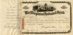 Hingham National Bank (Cashier, John O. Lovett embezzled $40,000) - Massachusetts 1865