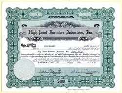 High Point Furniture Industries, Inc. - North Carolina 1958