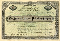 Historical Register Publishing Company - New Jersey 1895