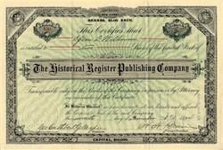 Historical Register Publishing Company - New Jersey 1894